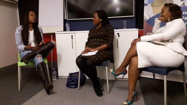 Angela Makholwa Angela Makholwa speaks at the Rosa Parks Memorial Library Soweto