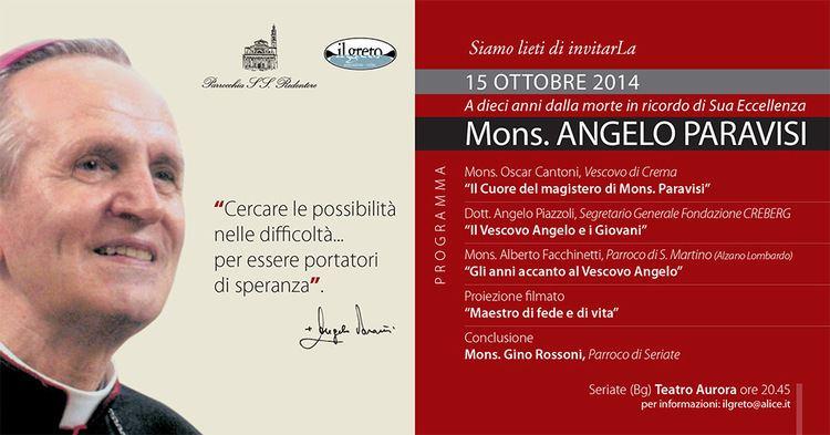 Angelo Paravisi Nel ricordo di Sua Eccellenza Mons Angelo Paravisi PARROCCHIA