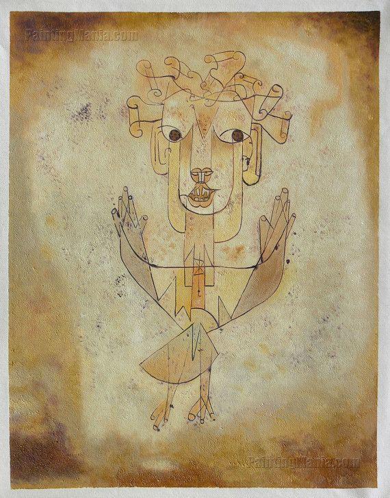 Angelus Novus Angelus Novus The New Angel Paul Klee by PaintingMania on Etsy