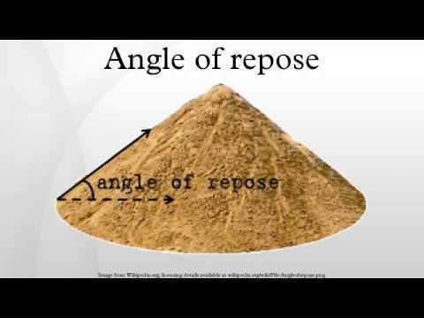 Angle of repose Angle of repose YouTube