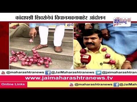 Anil Kadam Shiv senas Anil kadam protest to reduce Onion export price YouTube