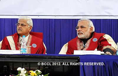 Anil R. Dave Chief Minister Narendra Modi and Justice Anil R Dave at third