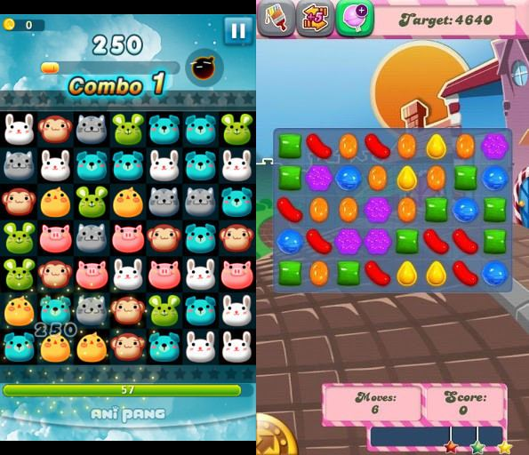 Anipang Mobile Game Competition Competition between Anipang 2 Candy Crush
