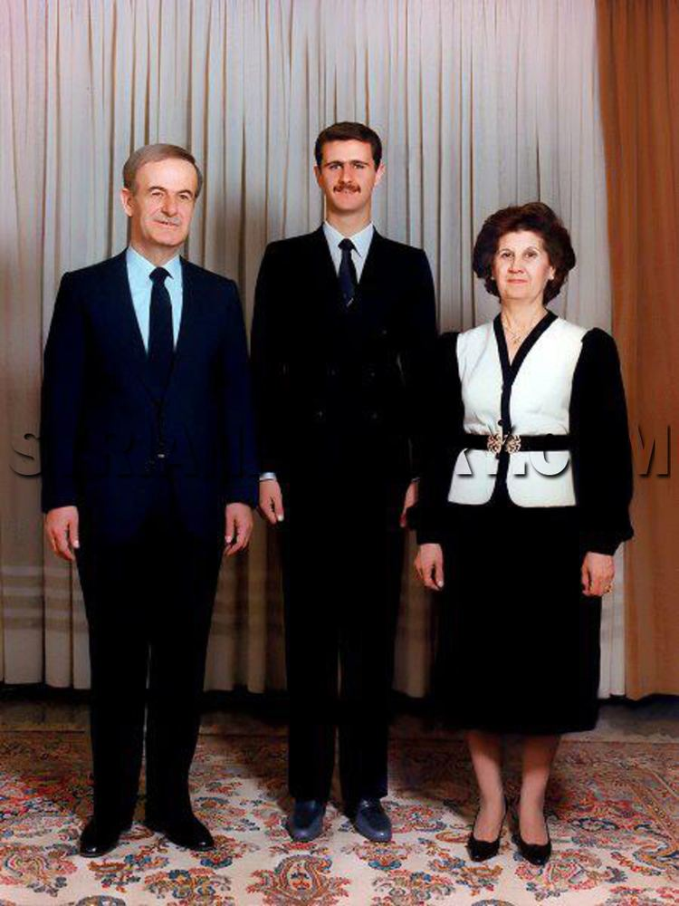 Anisa Makhlouf Syrian History President Hafez alAssad with his son Bashar and