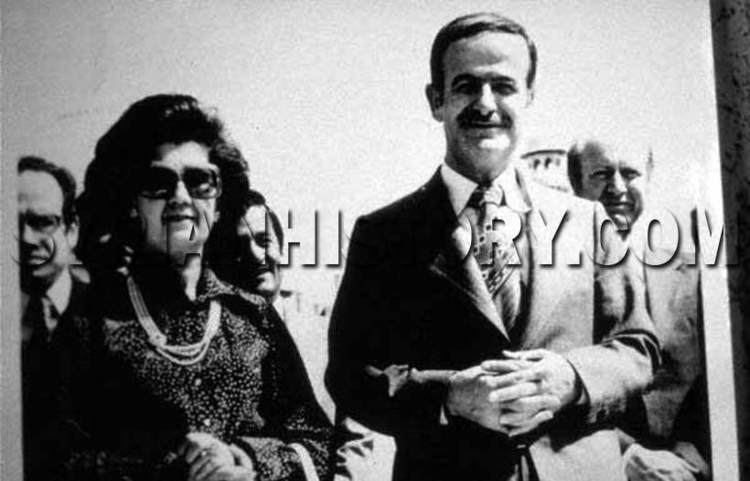 Anisa Makhlouf Syrian History President Hafez alAssad with his wife First Lady