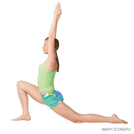 Anjaneyasana Low Lunge Anjaneyasana Yoga Pose