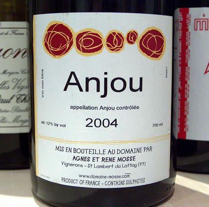 Anjou wine The wines of Rene Mosse Anjou Loire France