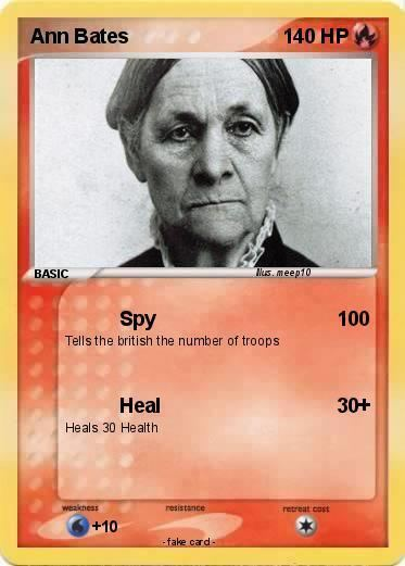 Ann Bates Pokmon Ann Bates 1 1 Spy My Pokemon Card
