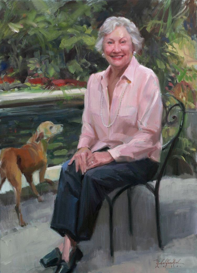 Ann Bedsole Portrait Painting of Mrs Ann Bedsole by Michael Shane Neal The