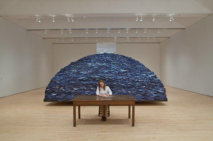 Ann Hamilton (artist) Ann Hamilton Indigo Blue Installation Art Economics