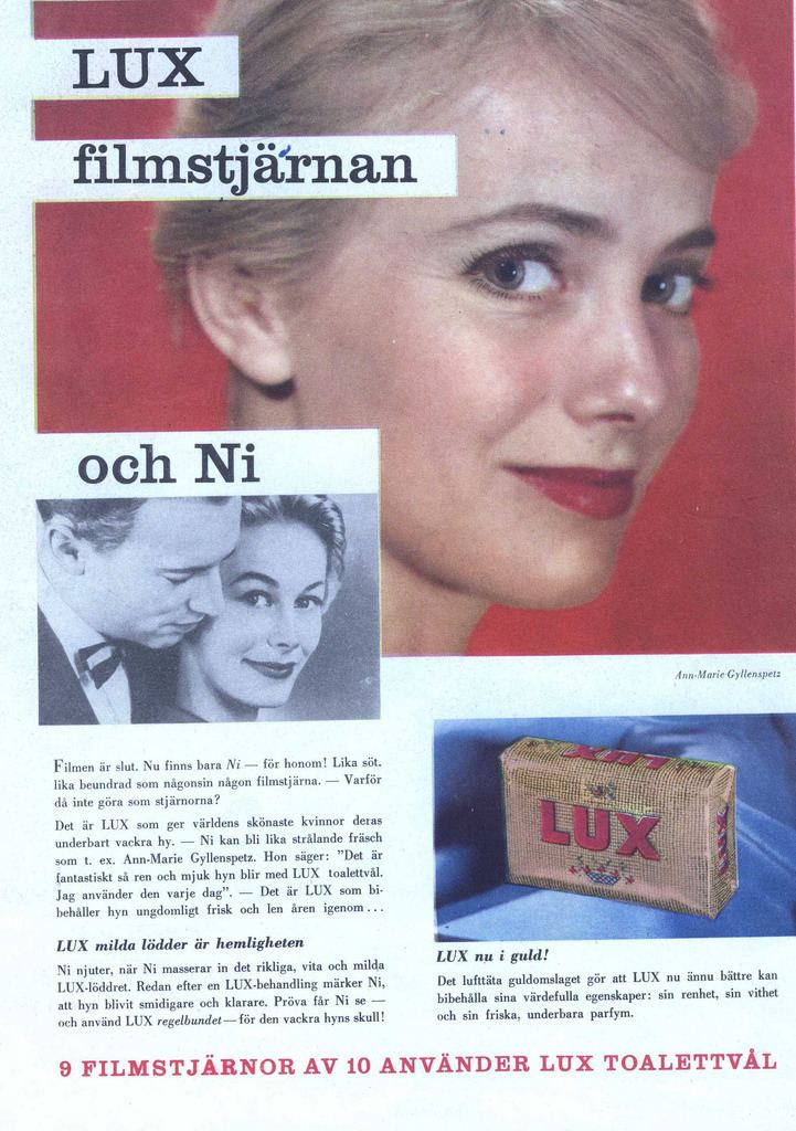 Ann-Marie Gyllenspetz Swedish film actress AnnMarie Gyllenspetz in an ad for Lu Flickr