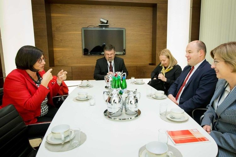 Anna Azari Deputy Minister Jan Dziedziczak meets with Israeli Ambassador Anna Azari