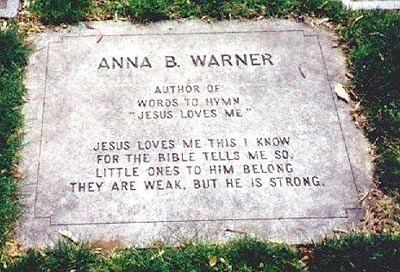 Anna Bartlett Warner Anna Bartlett Warner 1820 1915 Find A Grave Memorial