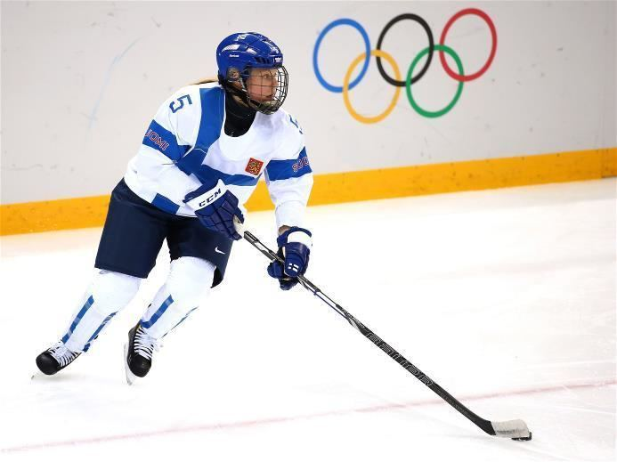 Anna Kilponen DAY 9 Anna Kilponen 5 of Finland competes during the Ice Hockey