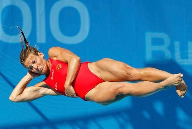 Anna Lindberg Men39s and women39s 1m springboard diving at the European