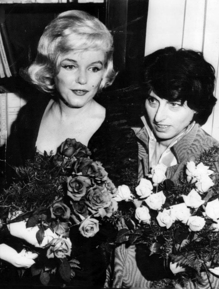 Anna Magnani Marilyn with Italian actress Anna Magnani receiving the David di