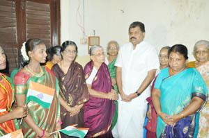 Annai Illam MYLAPORE TIMES International day for elders celebrated at Annai Illam
