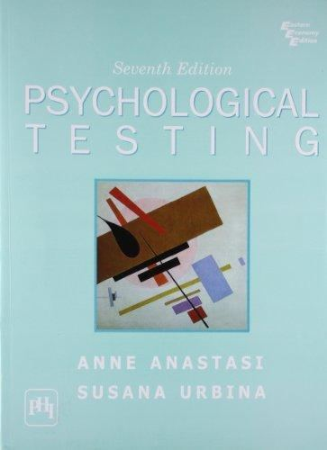 Anne Anastasi Psychological Testing Seventh Edition by Anne AnastasiSusana