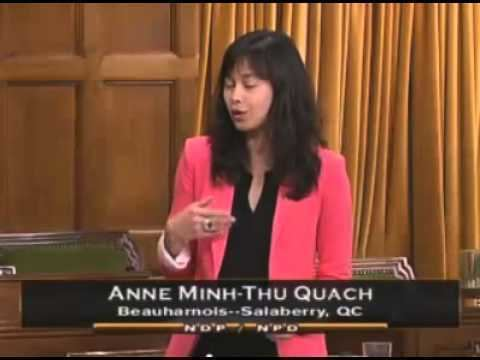 Anne Minh-Thu Quach Discours d39Anne MinhThu Quach sur son projet de loi