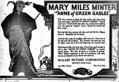 Anne of Green Gables (1919 film) Lost Film Files 6 Anne of Green Gables 1919 Movies Silently