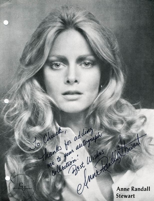 Anne Randall Anne Randall Stewart Inscribed Magazine Photo Signed Autographs