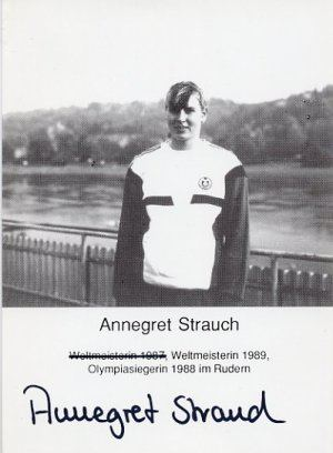 Annegret Strauch Seoul Rowing Gold ANNEGRET STRAUCH Hand Signed Photo