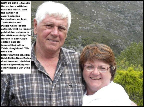 Annelie Botes Afrikaans toddlers in armed attacks Afrikaner dies in SAPS custody