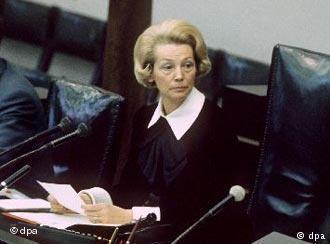 Annemarie Renger Konstituierung des neuen Bundestages am 13 Dezember 1972