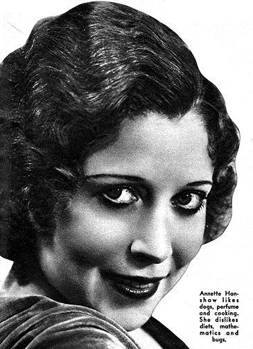 Annette Hanshaw Snapshot in Prose Annette Hanshaw Cladrite Radio