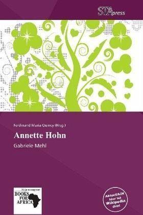 Annette Hohn Annette Hohn Buch buecherde