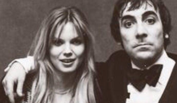 Keith Moon's arm around Annette Walter-Lax' shoulder