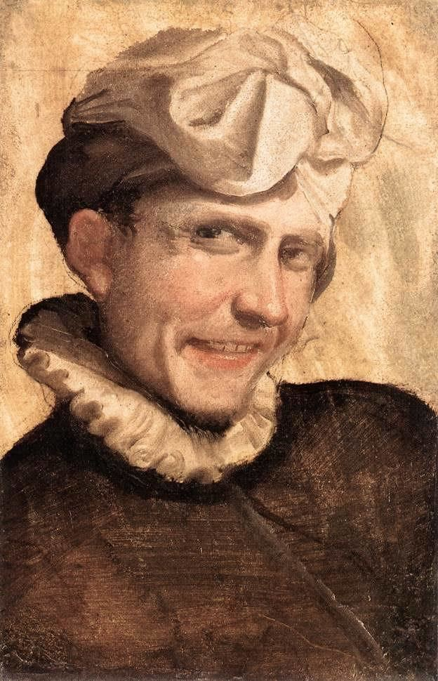 Annibale Carracci The Laughing Youth Annibale Carracci WikiArtorg