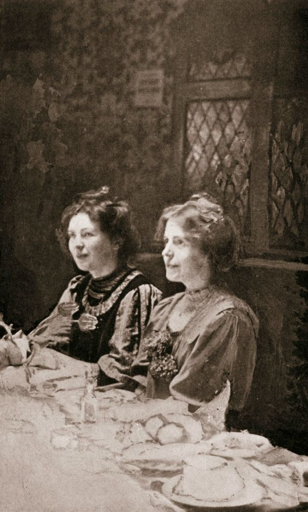 Annie Kenney Christabel Pankhurst and Annie Kenney British