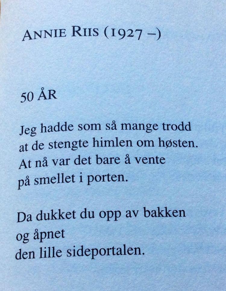 Annie Riis Av Annie Riis Fine dikt norske diktere Pinterest