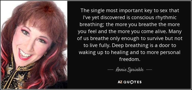 Annie Sprinkle TOP 24 QUOTES BY ANNIE SPRINKLE AZ Quotes