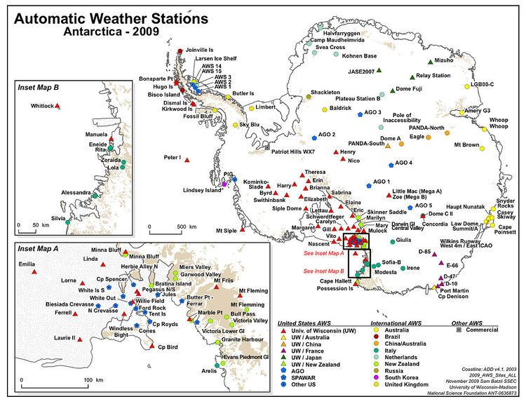 Antarctic Automatic Weather Stations Project