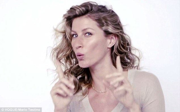 Anthem to Beauty movie scenes Gisele whistles the Brazilian national anthem in a short film shot behind the scenes on her