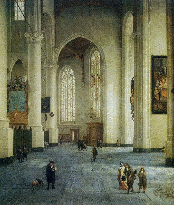Anthonie de Lorme de Lorme Interior of the St Laurenskerk Rotterdam