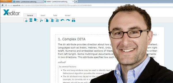 Anthony Apodaca Interview with Anthony Apodaca about Xeditor DITA Writer
