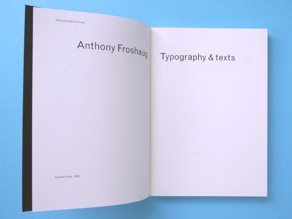 Anthony Froshaug Anthony Froshaug Books Hyphen Press