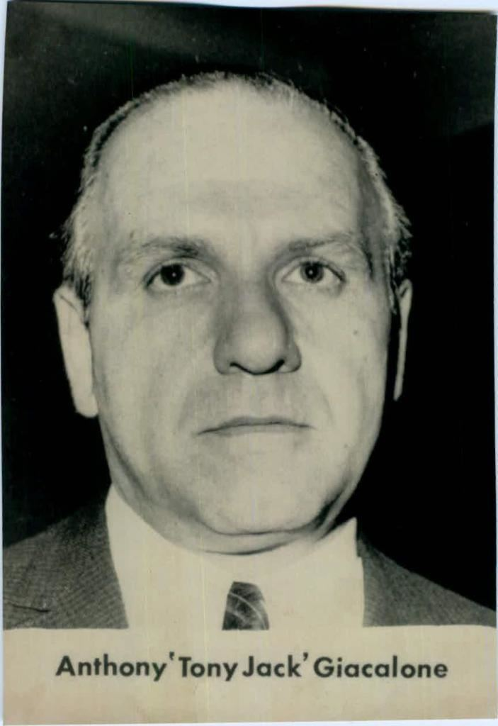Anthony Giacalone NJ Mob Capo Tony Pro Was In Detroit Hours Before Hoffa Was