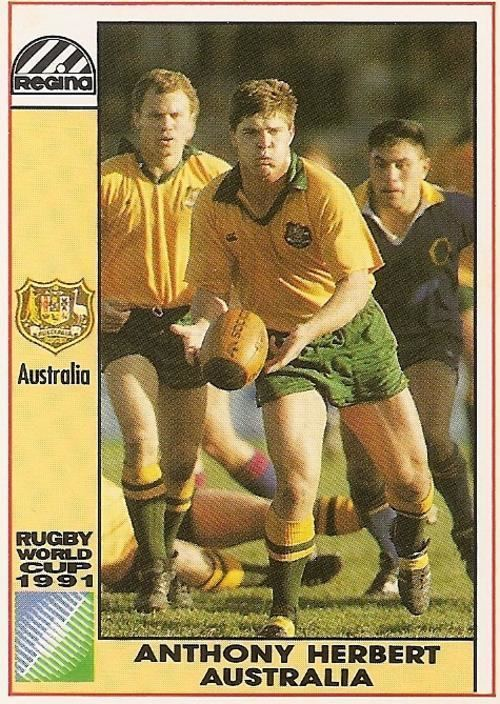 Anthony Herbert (rugby) Rugby 1991 RUGBY WORLD CUPREGINA ANTHONY HERBERT CARD 7 was