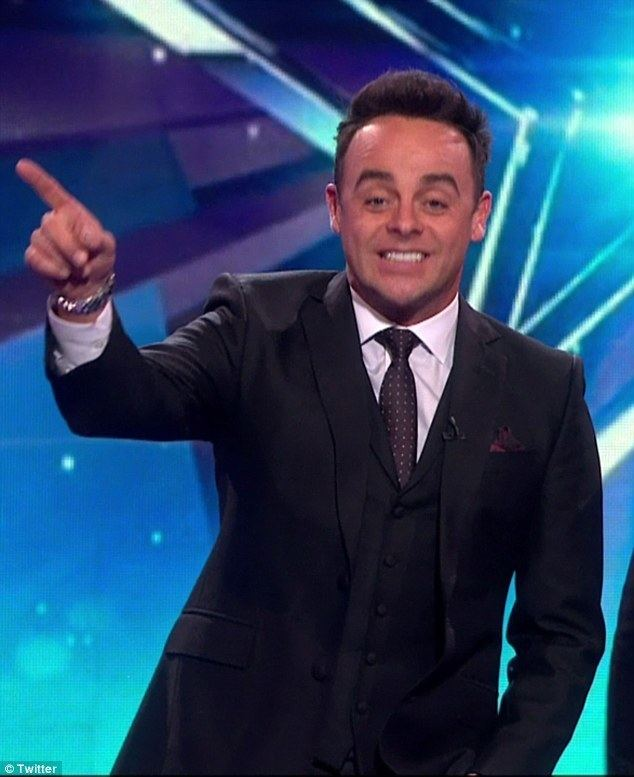 Anthony McPartlin Britains Got Talents Ant McPartlin shows off a gleaming white