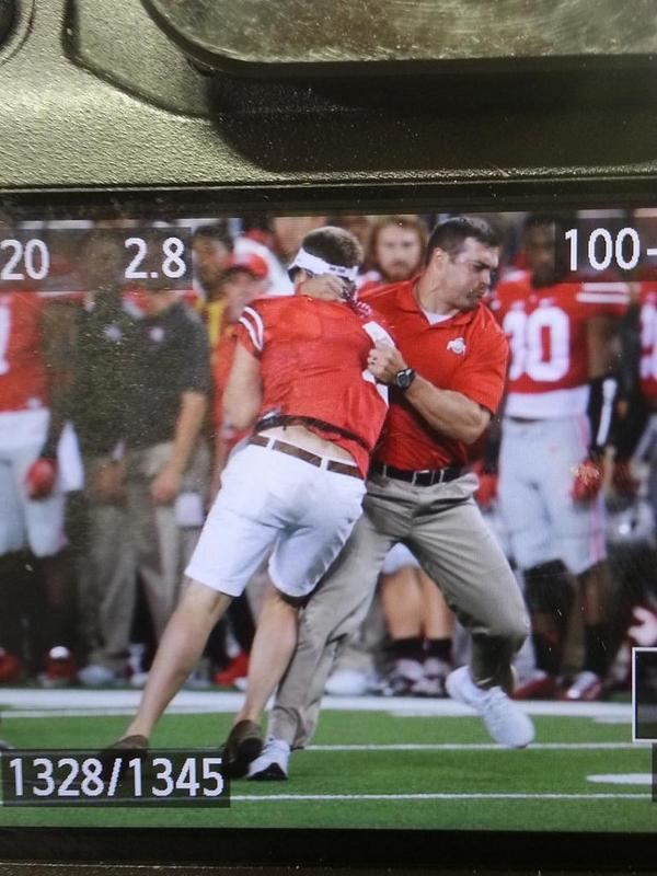 Anthony Schlegel Ohio State strength coach slams fan who charged field