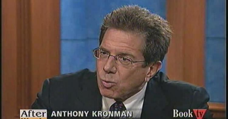 Anthony T. Kronman Words Anthony Kronman Jul 22 2008 Video CSPANorg