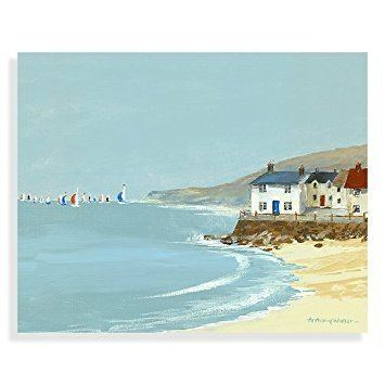 Anthony Waller Spinnaker Canvas Print by Anthony Waller Coastal Prints Beach