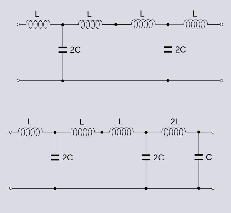 Antimetric electrical network