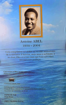 Antoine Abel Remembering Antoine Abel Ministry of Youth Sports Culture