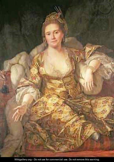 Antoine de Favray Annette Comtesse de Vergennes in Oriental Costume