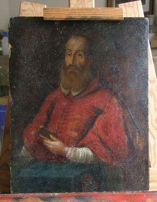 Antoine Perrenot de Granvelle Visite datelier Restauration doeuvres dart Restauration du